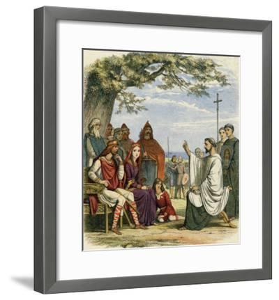 Augustine Preaching Christianity to Ethelbert 1 King of England-James Doyle-Framed Giclee Print