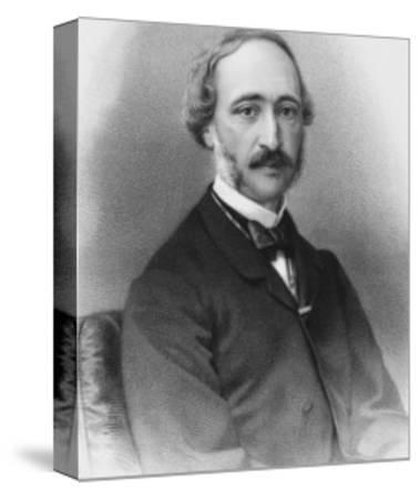 Alexandre-Edmond Becquerel French Physicist in 1865-C. Fuhr-Stretched Canvas Print