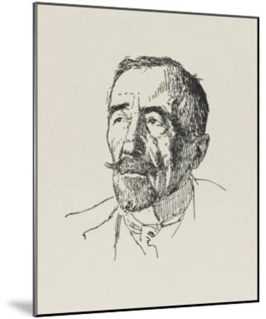 Joseph Conrad Polish-Born Writer in 1922-Powys Evans-Mounted Giclee Print