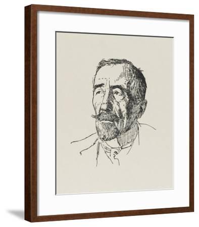 Joseph Conrad Polish-Born Writer in 1922-Powys Evans-Framed Giclee Print