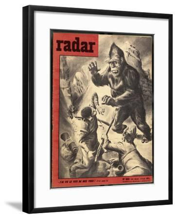 Tibetan Refugees Fleeing into Nepal Encounter a Yeti-Rino Ferrari-Framed Giclee Print