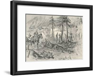 The Canadian Police Headquarters at Klondike City Across the Klondike River from Dawson City-C.e. Fripp-Framed Giclee Print