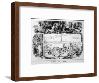 Capital and Labour, Satire on the Class System-James Doyle-Framed Giclee Print