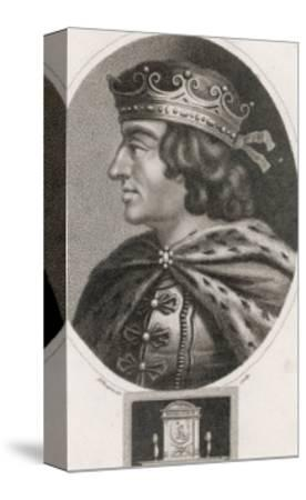 King John of England Reigned: 1199-1216 Son of Henry II-J^ Chapman-Stretched Canvas Print