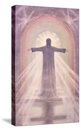 Jesus Depicted as the Advocate-Elizabeth Bruce Adams-Stretched Canvas Print