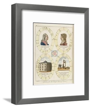 The Nativities of Louis XVI and Marie Antoinette Show Their Tragic Destiny- Dodd-Framed Giclee Print