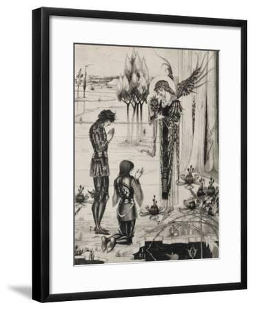 The Holy Grail is Achieved-Aubrey Beardsley-Framed Giclee Print