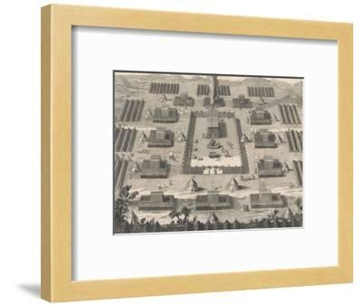 Exodus: The Israelites Encamped About the Tabernacle Erected in the Wilderness-Dom Augustin Calmet-Framed Giclee Print