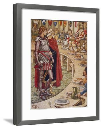Sir Galahad is Introduced to the Round Table-Walter Crane-Framed Giclee Print
