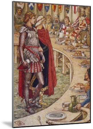 Sir Galahad is Introduced to the Round Table-Walter Crane-Mounted Giclee Print