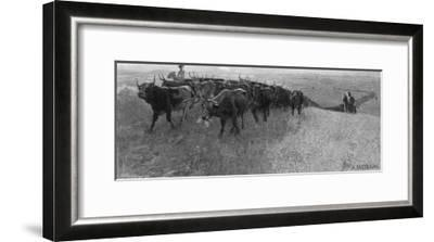 On the Great Abilene Cattle Trail from Texas-G^h^ Del'orme-Framed Giclee Print