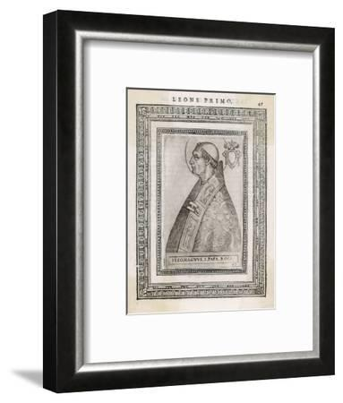 "Pope Leo I ""The Great"" Pope and Saint Opposed Heretics Menaced by Attila the Hun- Cavallieri-Framed Giclee Print"