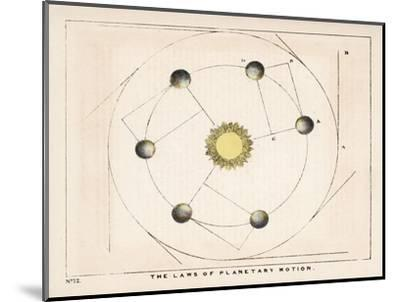 The Laws of Planetary Motion-Charles F^ Bunt-Mounted Giclee Print