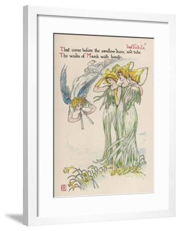 Daffodils Personified-Walter Crane-Framed Giclee Print