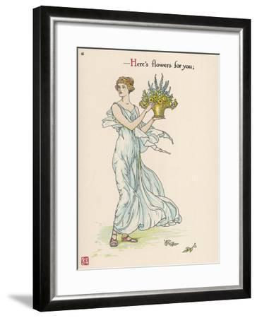 Heres Flowers for You!-Walter Crane-Framed Giclee Print