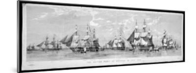 British Fleet Spithead: Nerbudda-Edward Duncan-Mounted Giclee Print