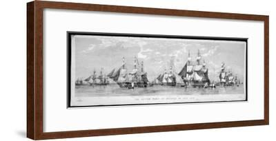 British Fleet Spithead: Nerbudda-Edward Duncan-Framed Giclee Print