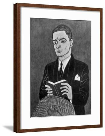 Thomas Stearns Eliot American Writer-Powys Evans-Framed Giclee Print