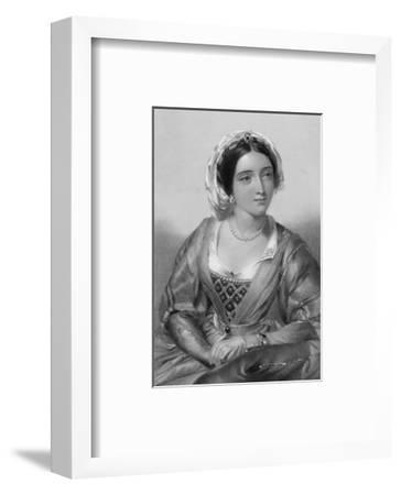 Queen of Edward I Daughter of Ferdinand III of Castile and Joan of Ponthieu-W.h. Egleton-Framed Premium Giclee Print
