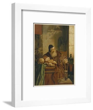 Faust at His Studies Muses on the Power of Magic- Comeleran-Framed Giclee Print