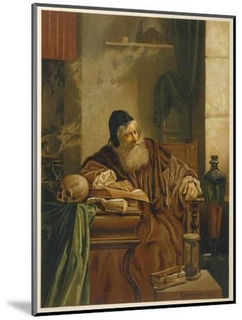 Faust at His Studies Muses on the Power of Magic- Comeleran-Mounted Giclee Print