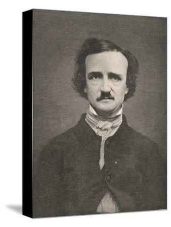 Edgar Allan Poe American Writer-Timothy Cole-Stretched Canvas Print