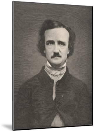 Edgar Allan Poe American Writer-Timothy Cole-Mounted Giclee Print