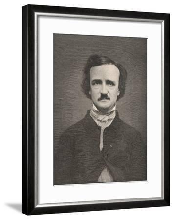 Edgar Allan Poe American Writer-Timothy Cole-Framed Giclee Print