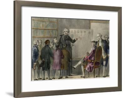 Abbe De L'Epee French Inventor of a Sign Language to Enable Deaf-Mutes to Communicate-Albert Chereau-Framed Giclee Print