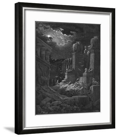 Fall of Babylon-Gustave Dor?-Framed Giclee Print