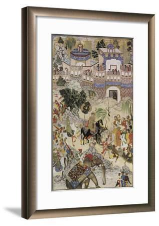 Mughal Emperor Akbar Enters Surat Gujerat after an Astonishingly Rapid 11-Day Campaign-Farrukh Beg-Framed Giclee Print