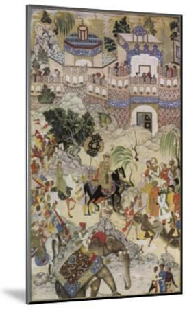 Mughal Emperor Akbar Enters Surat Gujerat after an Astonishingly Rapid 11-Day Campaign-Farrukh Beg-Mounted Giclee Print