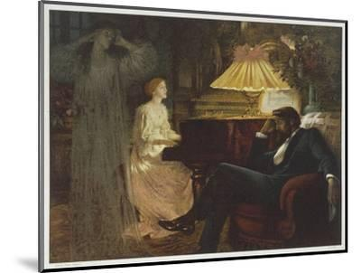 In a Reverie Induced by His Wife Playing the Piano He Hallucinates the Girl He Didn't Marry-Frank Bernard Dicksee-Mounted Giclee Print