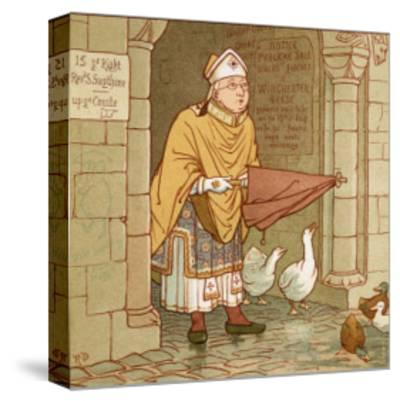 According to Tradition if It Rains-Robert Dudley-Stretched Canvas Print