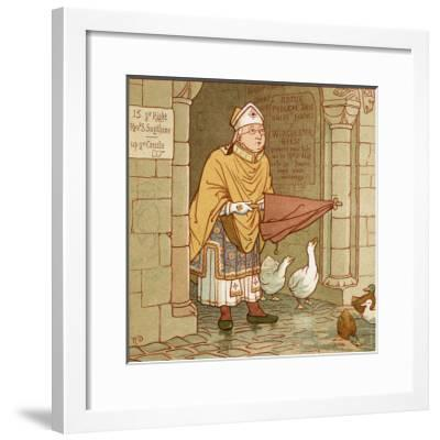 According to Tradition if It Rains-Robert Dudley-Framed Giclee Print