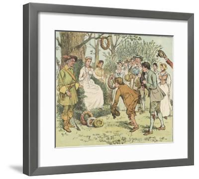 The May Queen is Honoured by Villagers with Garlands-Randolph Caldecott-Framed Giclee Print