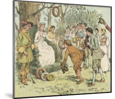 The May Queen is Honoured by Villagers with Garlands-Randolph Caldecott-Mounted Giclee Print