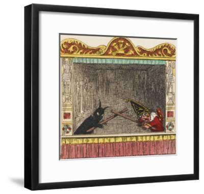Punch Fights Old Nick-George Cruikshank-Framed Giclee Print