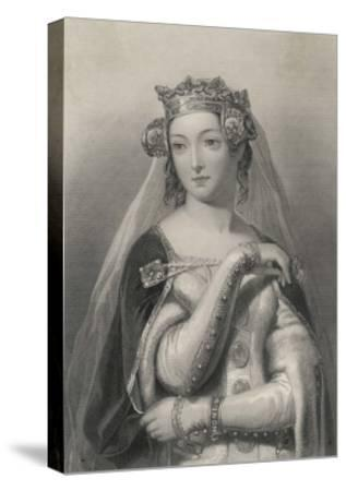 Philippa of Hainault Queen of Edward III of England-W.h. Egleton-Stretched Canvas Print