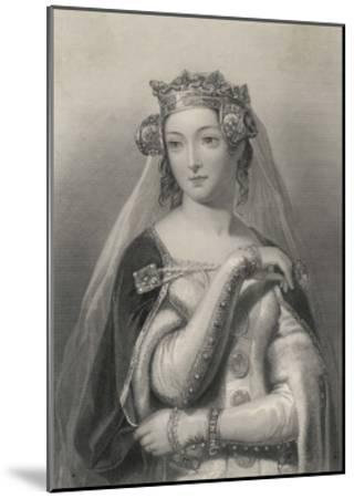 Philippa of Hainault Queen of Edward III of England-W.h. Egleton-Mounted Giclee Print