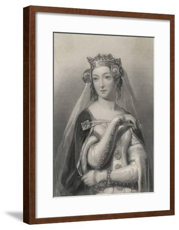 Philippa of Hainault Queen of Edward III of England-W.h. Egleton-Framed Giclee Print