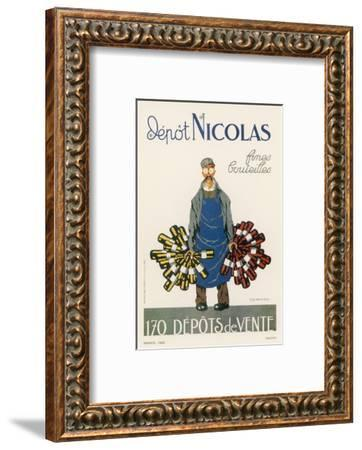 Poster for the Nicolas Chain of Wine Shops France-Dransy-Framed Giclee Print