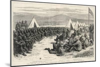The End of the Zulu War, The Surrender of Native Chiefs to Sir G. Wolseley-Godefroy Durand-Mounted Giclee Print