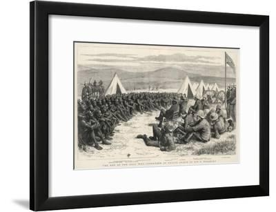 The End of the Zulu War, The Surrender of Native Chiefs to Sir G. Wolseley-Godefroy Durand-Framed Giclee Print