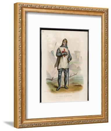 Godefroi De Bouillon Duc De Lorraine Crusader Chosen King of Jerusalem- Boilly-Framed Giclee Print