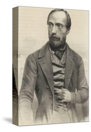 Giuseppe Mazzini Italian Patriot-Ferdinand Perrin-Stretched Canvas Print