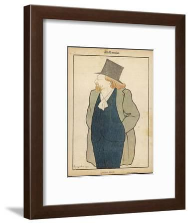 Catulle Mendes French Writer in His Hat and Coat-Leonetto Cappiello-Framed Giclee Print