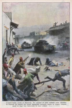 At Nablus Palestinians Rebel Against British Mandate-Achille Beltrame-Stretched Canvas Print