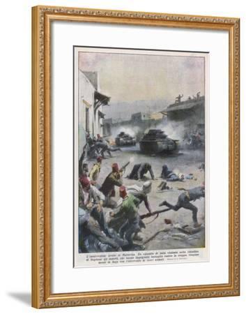 At Nablus Palestinians Rebel Against British Mandate-Achille Beltrame-Framed Giclee Print