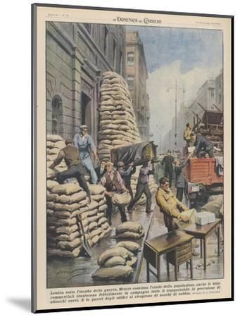 Londoners Prepare Blitz-Achille Beltrame-Mounted Giclee Print